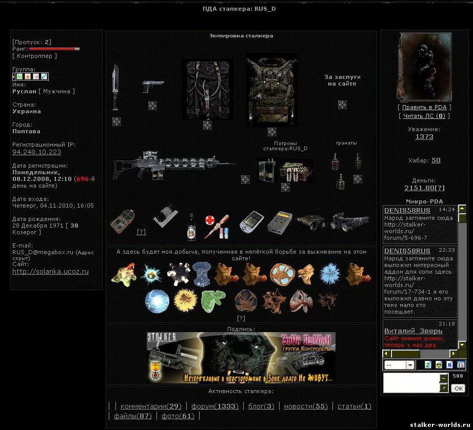 Сталкер Тени Чернобыля(Старая разметка) - Вселенная игры 98